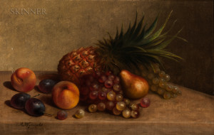 Arnoud Wydeveld (American, 1823-1888)      Still Life with Pineapple and Other Fruit
