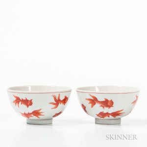 Pair of Iron Red Bowls