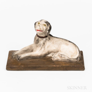 Chalkware Dog Figure