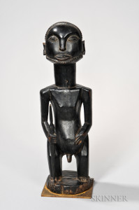 Luba Carved Wood Male Figure