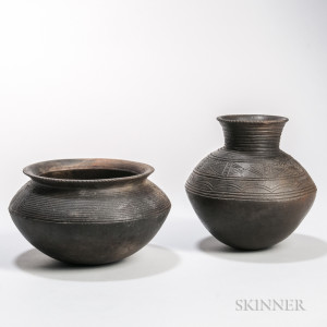 Two West African Pottery Bowls