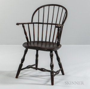 Brown-painted Sack-back Windsor Chair
