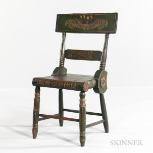 Green Paint-decorated Side Chair
