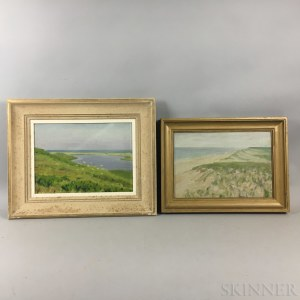 Three Oil on Board Works Attributed to Edwin B. Sears (American, 20th Century)