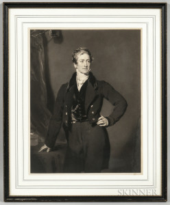 After Sir Thomas Lawrence (British, 1769-1830)    Portrait of the British Statesman Sir Robert Peel